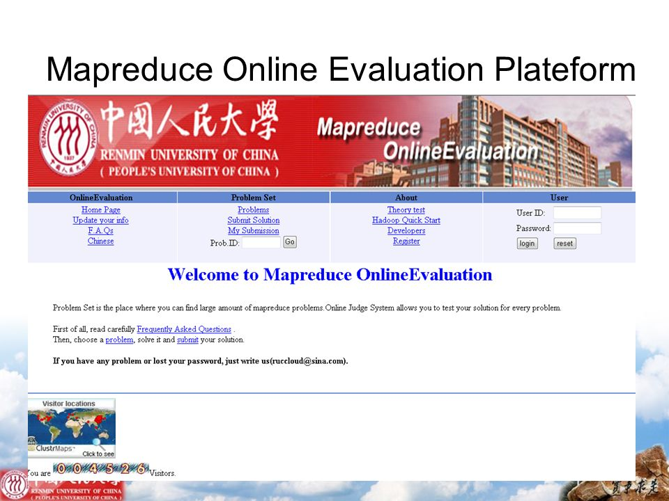 Mapreduce Online Evaluation Plateform