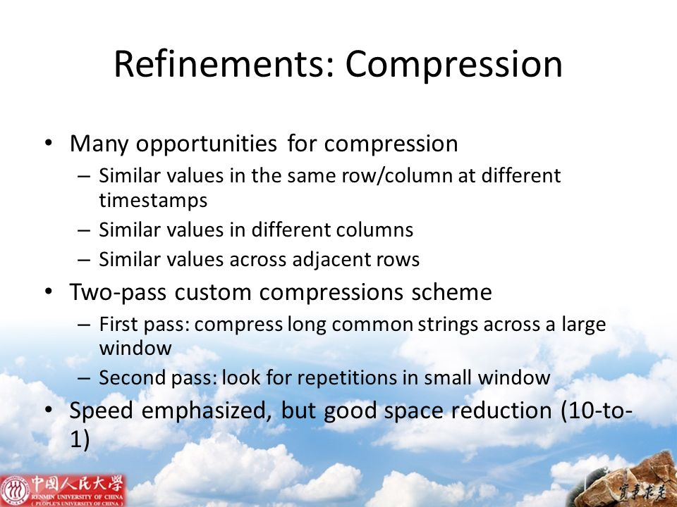 Refinements: Compression