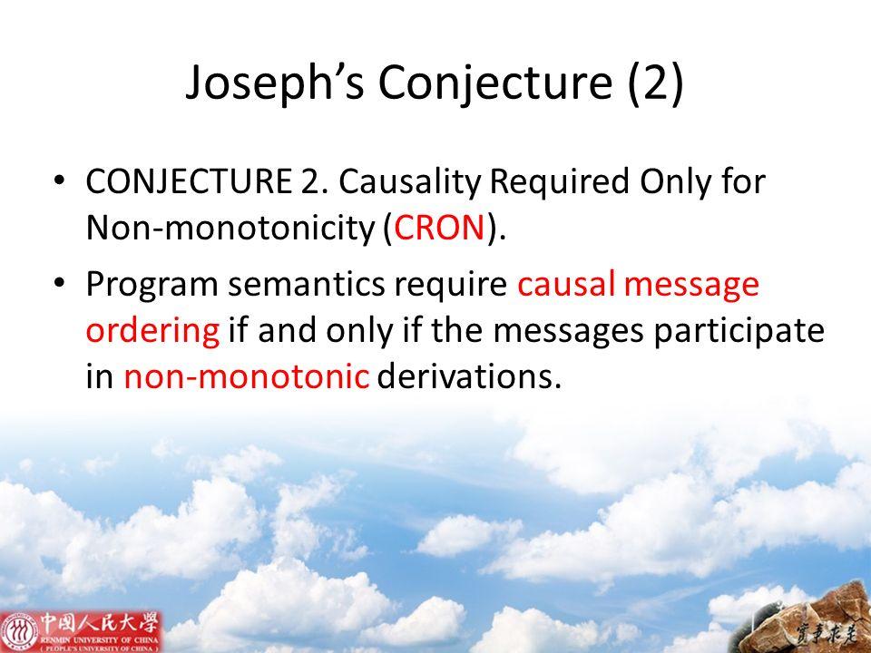 Joseph's Conjecture (2)