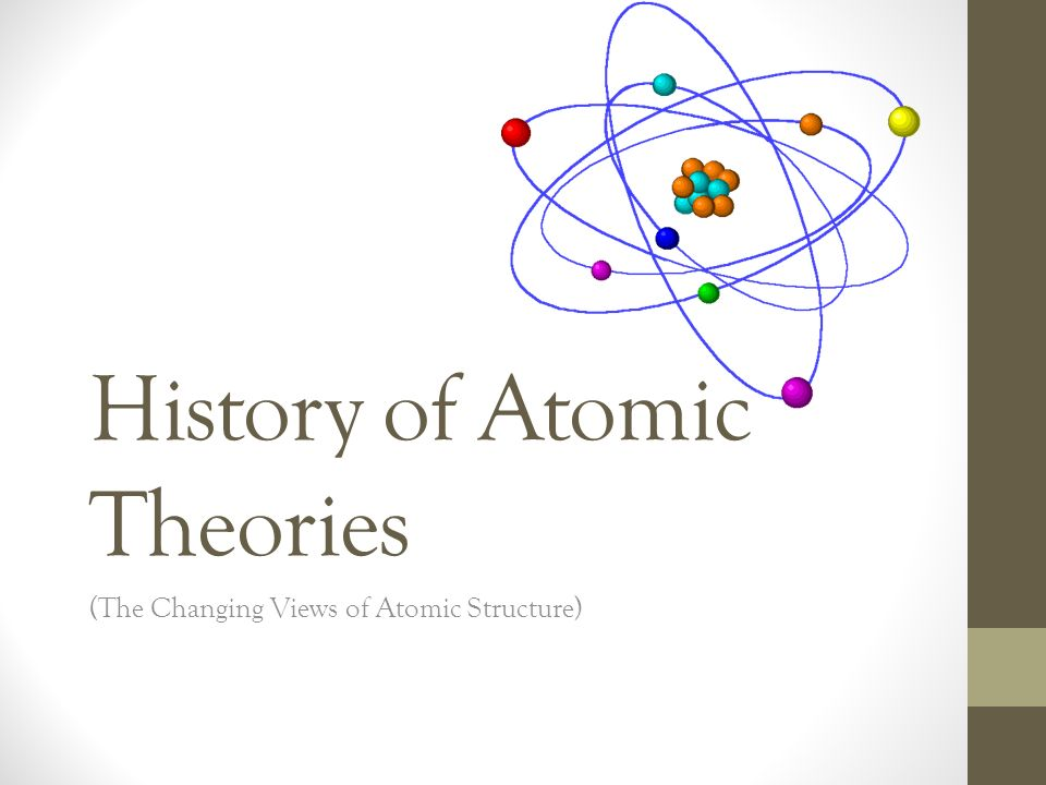 a history of theories on the atom This lesson is the fifth of a five-part series that will broaden and enhance students' understanding of the atom and the history of its discovery and development from ancient to modern times the history of the atom 1: the ancient greeks examines the ancient greeks' theories about the atom the.