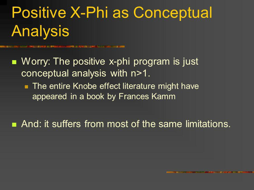 Positive X-Phi as Conceptual Analysis