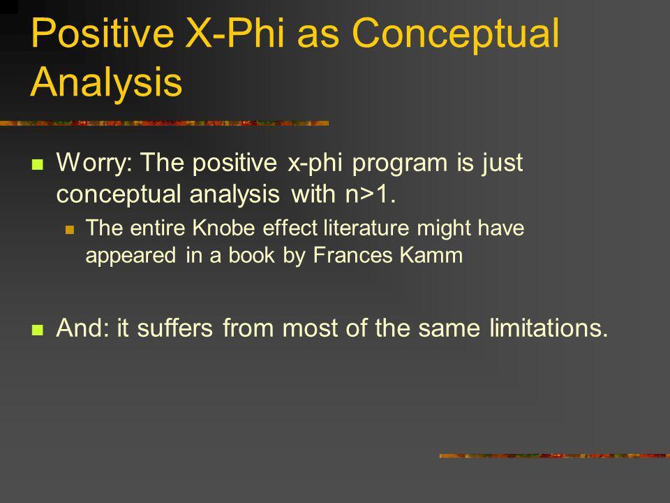 Positive X-Phi as Conceptual Analysis