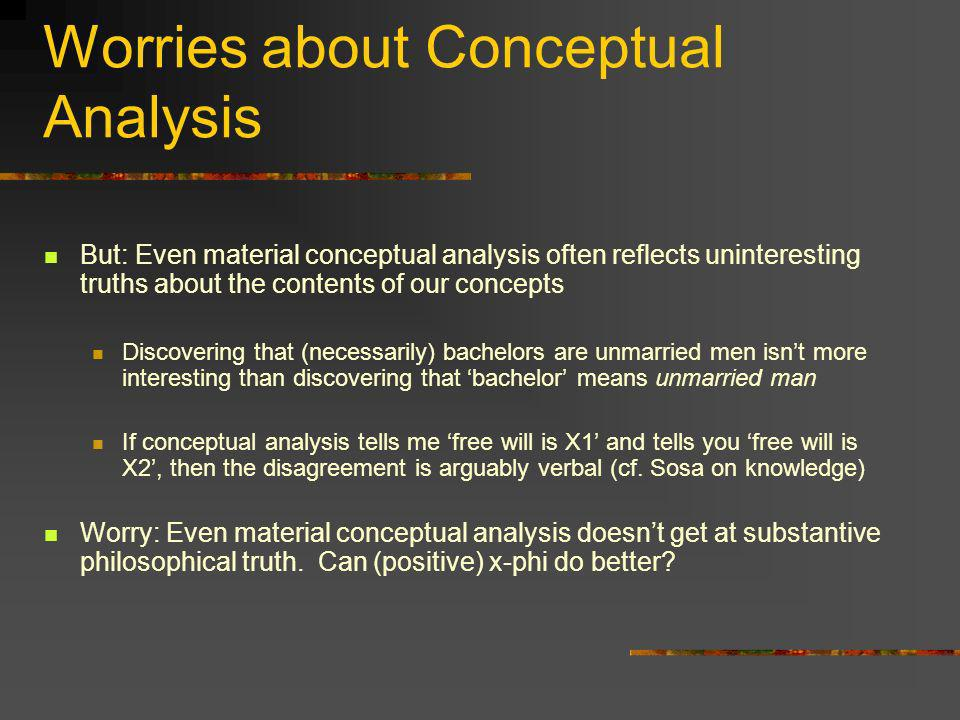 Worries about Conceptual Analysis