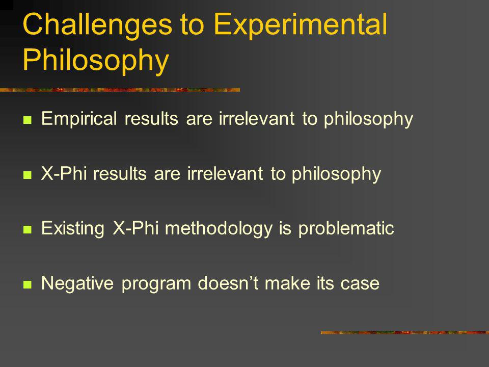 Challenges to Experimental Philosophy