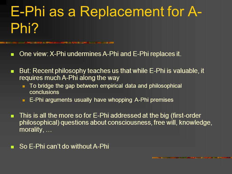 E-Phi as a Replacement for A-Phi