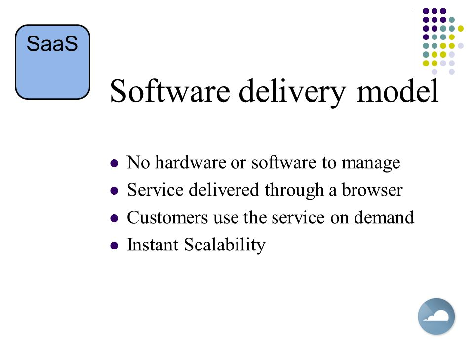 Software delivery model