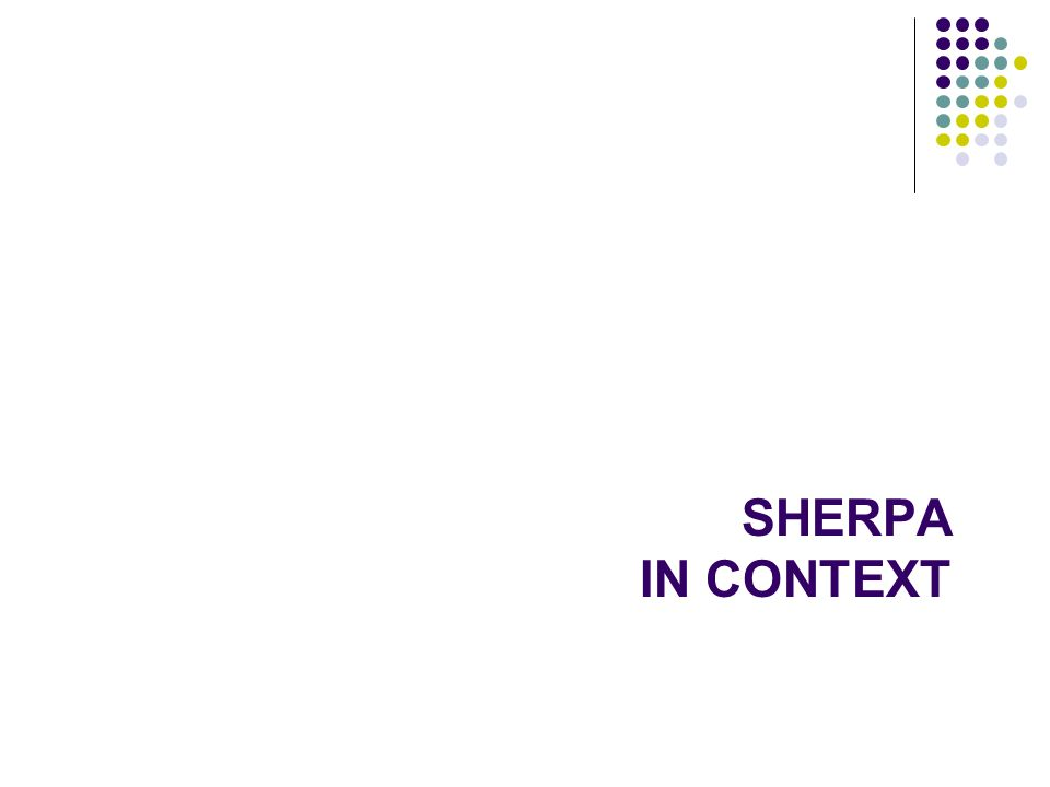 SHERPA IN CONTEXT 140