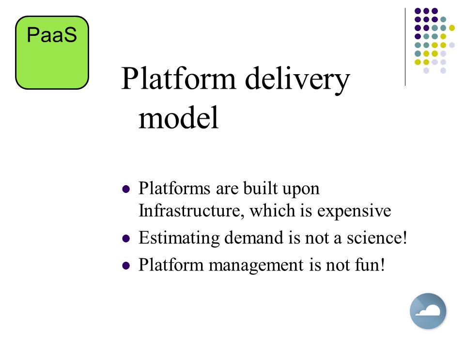 Platform delivery model