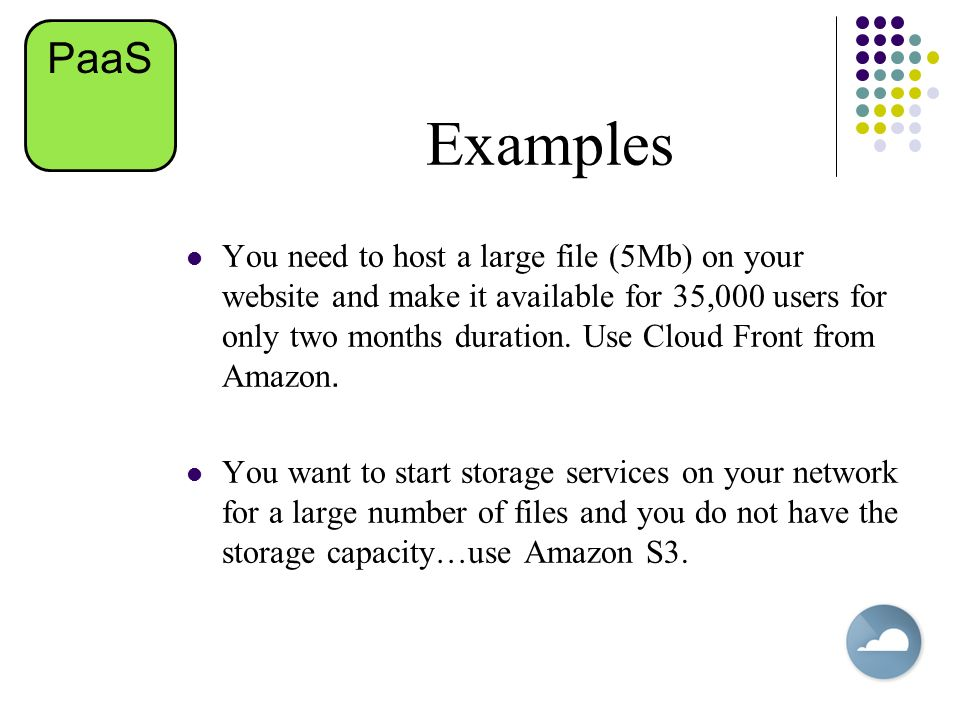 PaaS Examples.