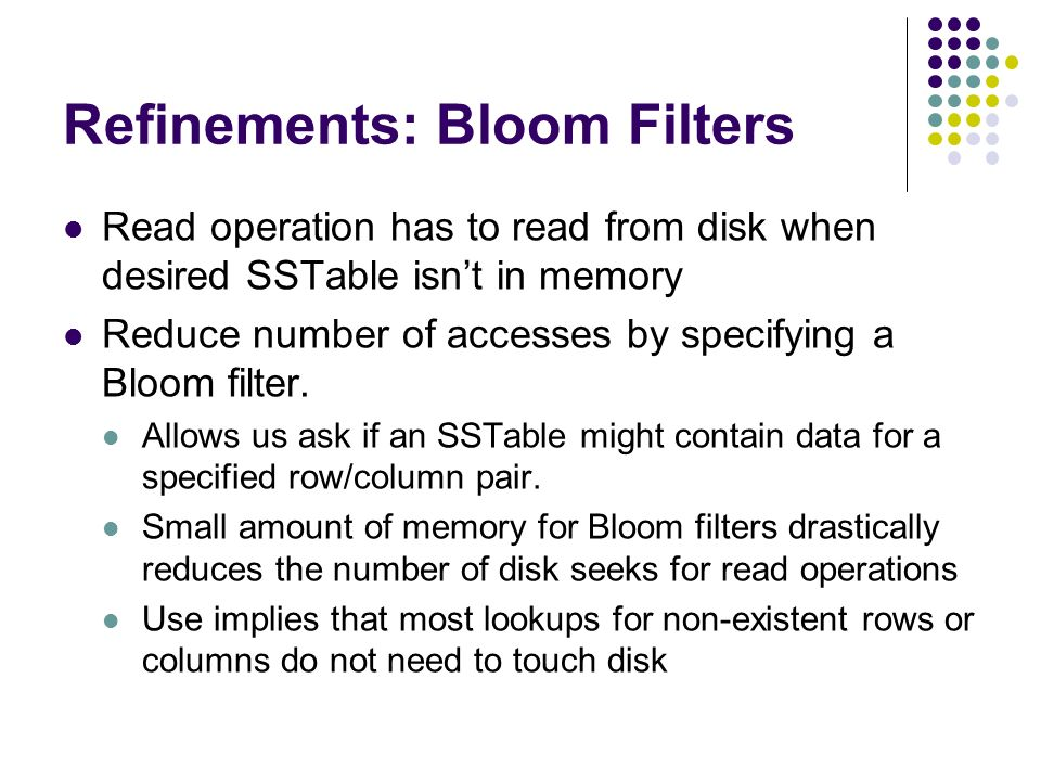 Refinements: Bloom Filters