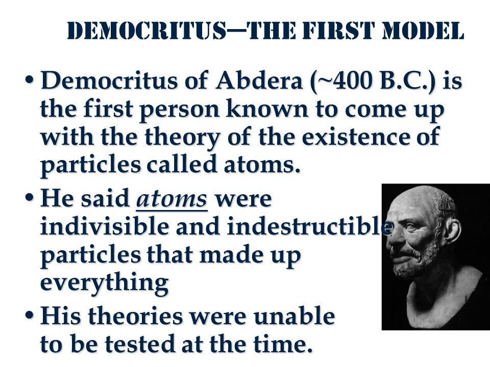 Democritus atomic model