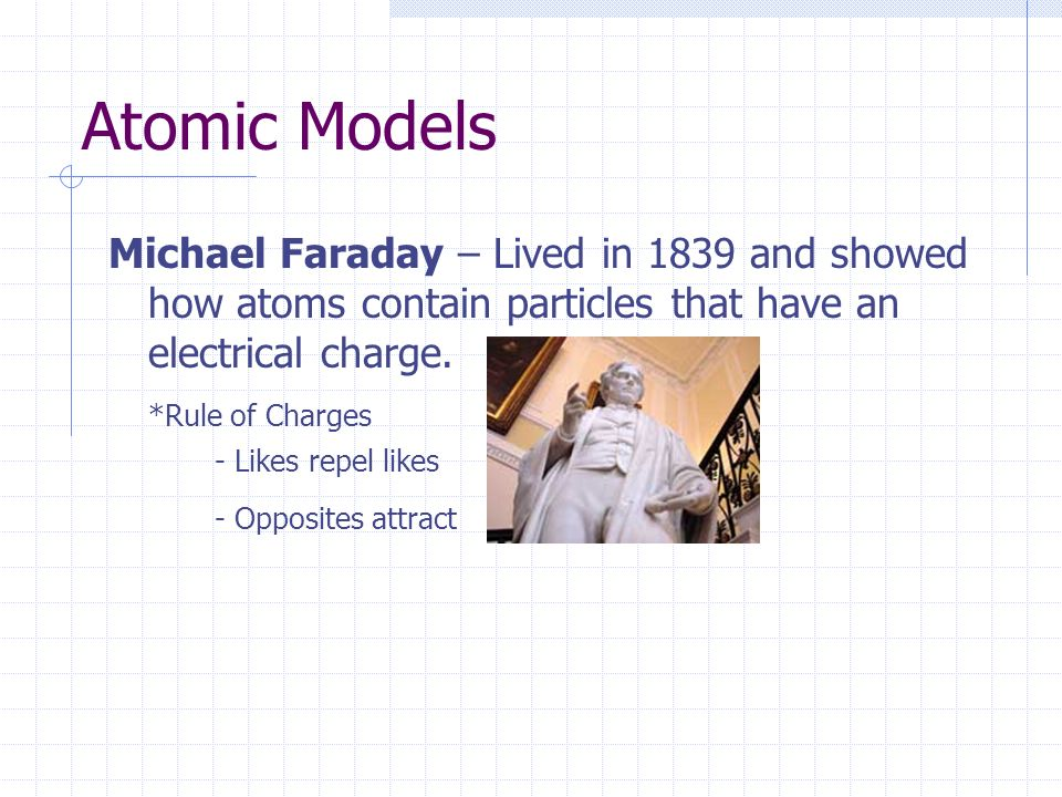 history atomic theory and michael farraday including his d