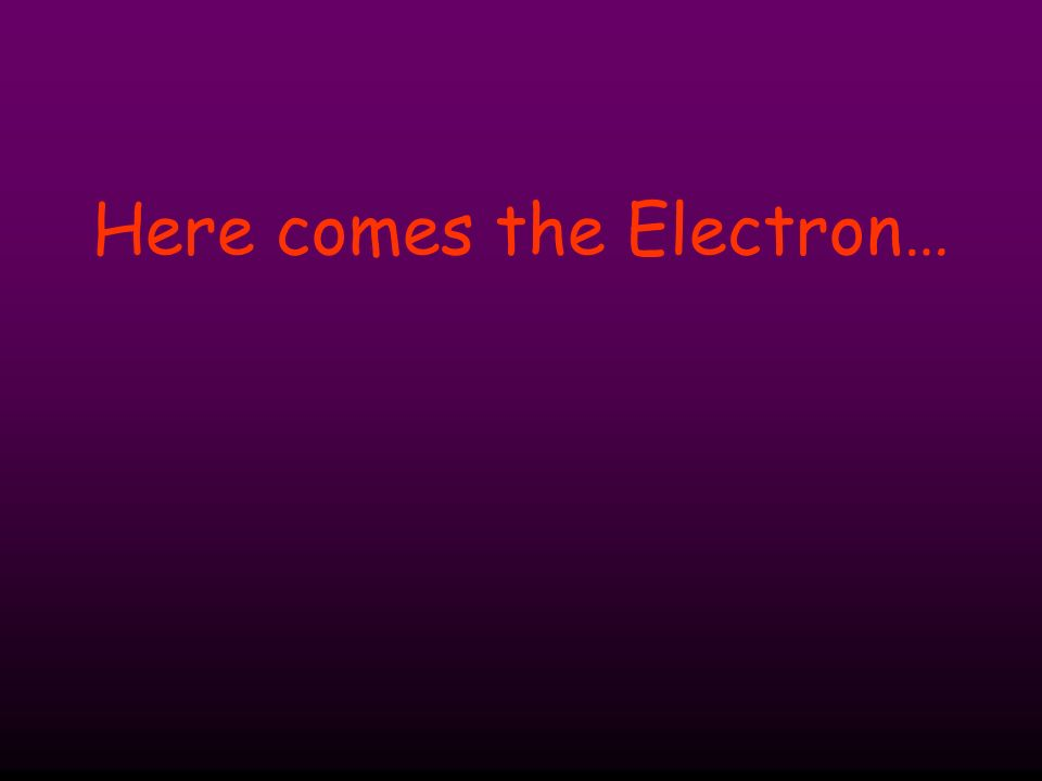 Here comes the Electron…