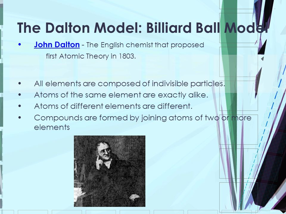 The Dalton Model: Billiard Ball Model