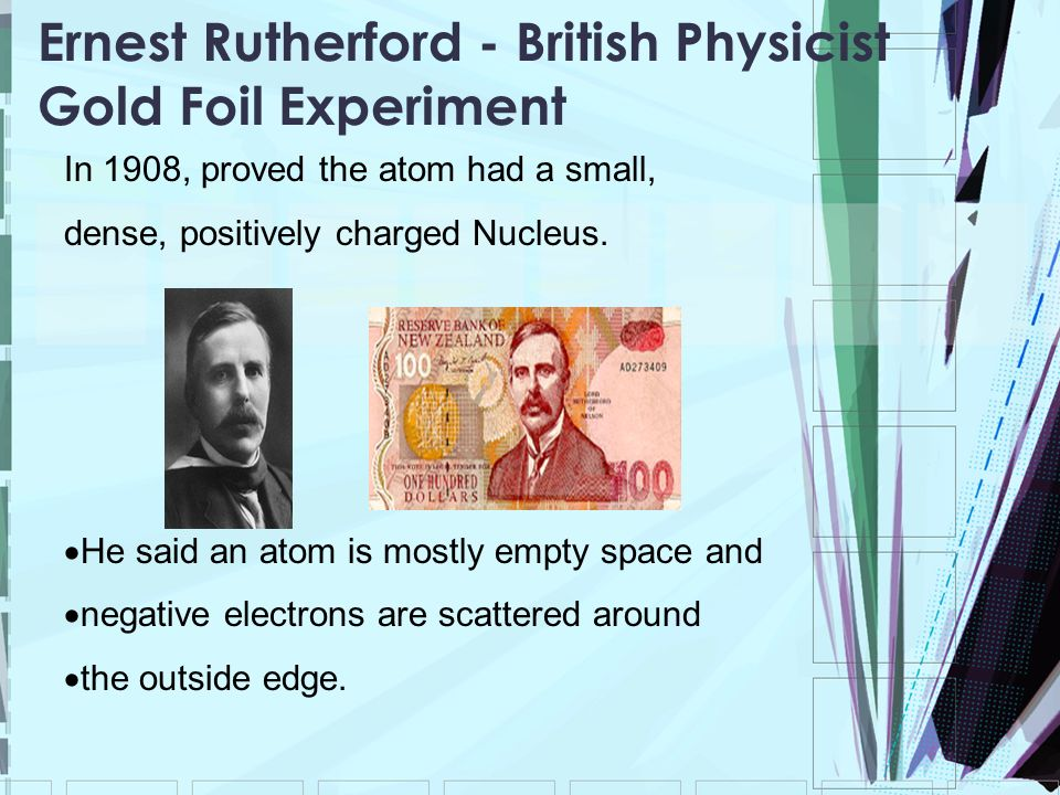Ernest Rutherford - British Physicist Gold Foil Experiment
