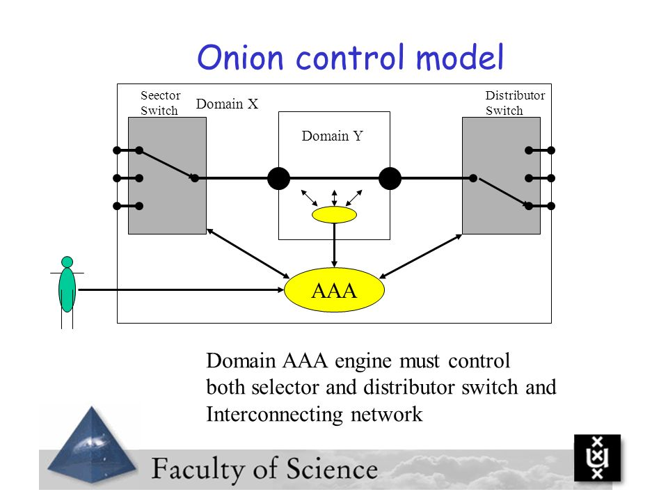 Onion control model AAA Domain AAA engine must control