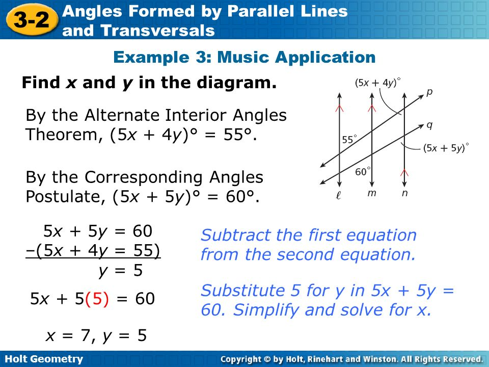 Angles formed by parallel lines and transversals ppt video - Kuta software exterior angle theorem ...