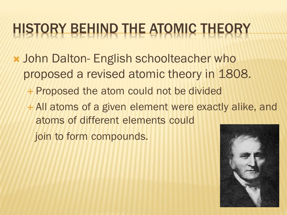 History Behind the Atomic Theory