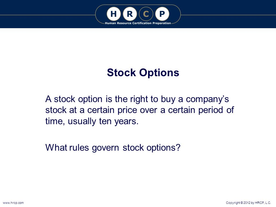 10 year stock options