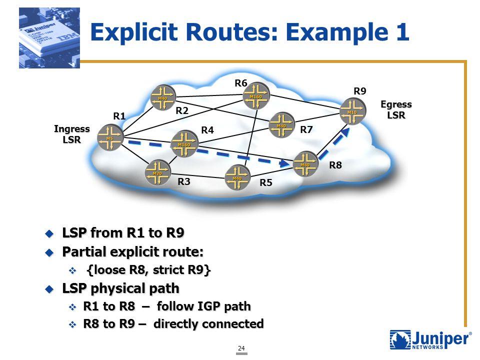 Explicit Routes: Example 1