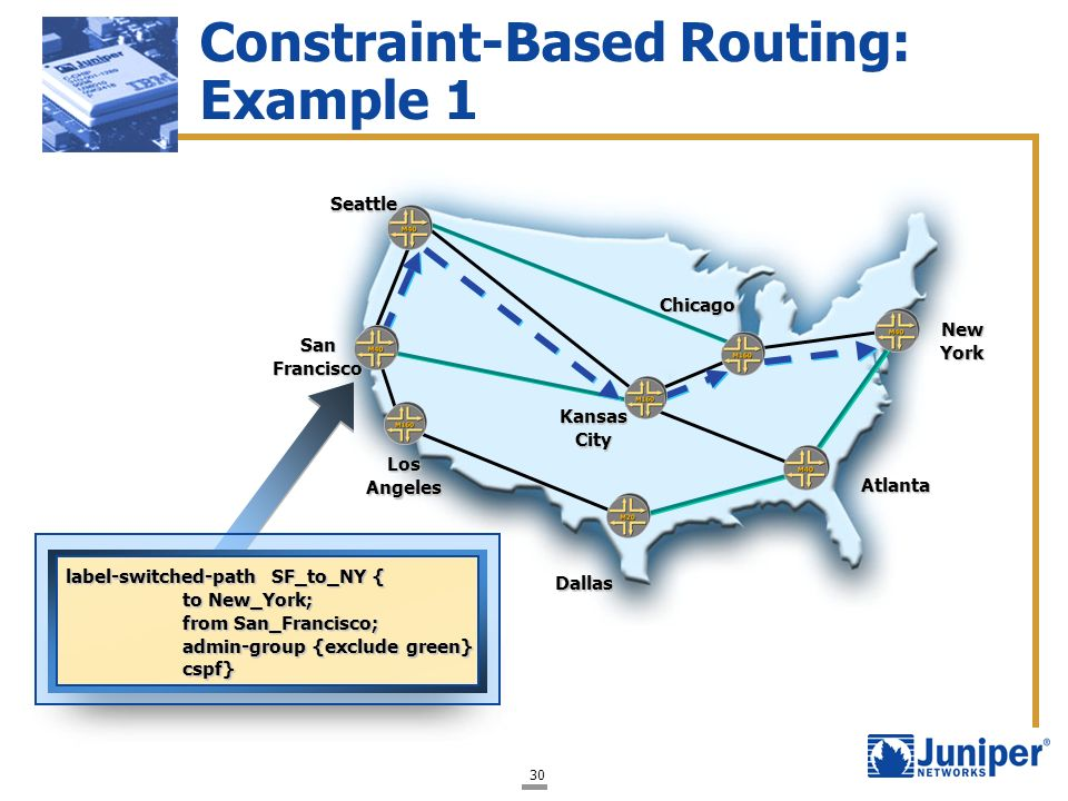 Constraint-Based Routing: Example 1