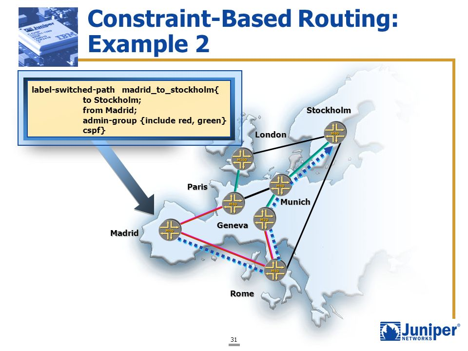 Constraint-Based Routing: Example 2
