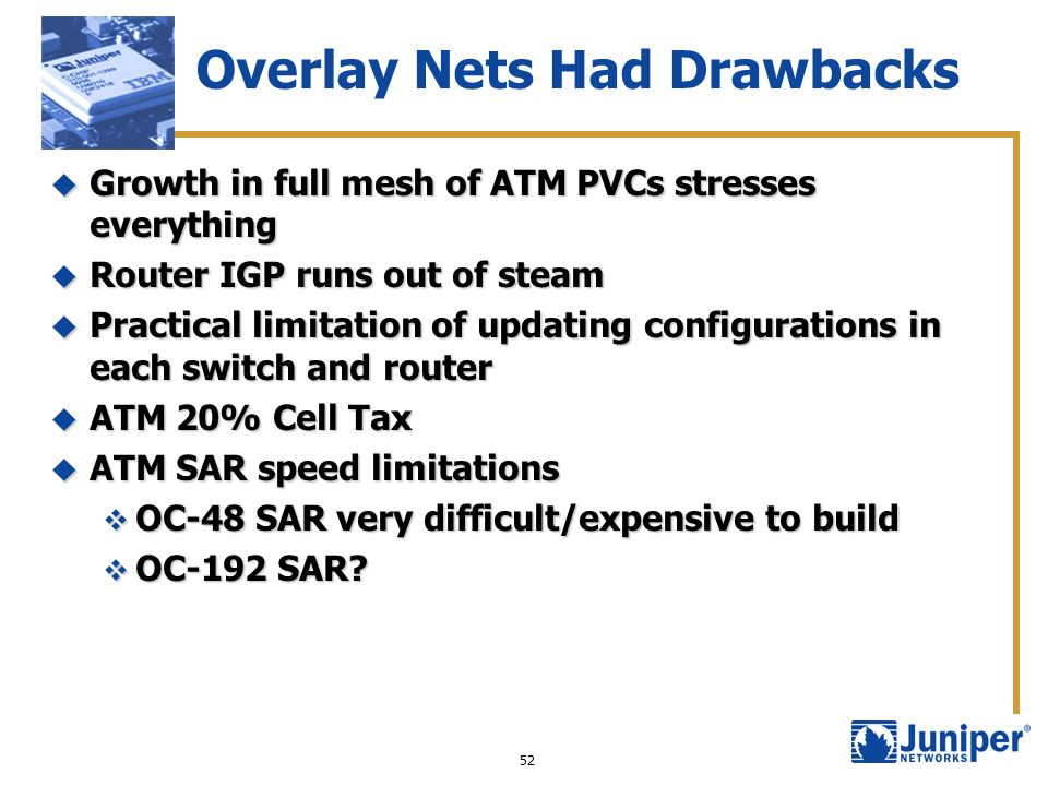 Overlay Nets Had Drawbacks