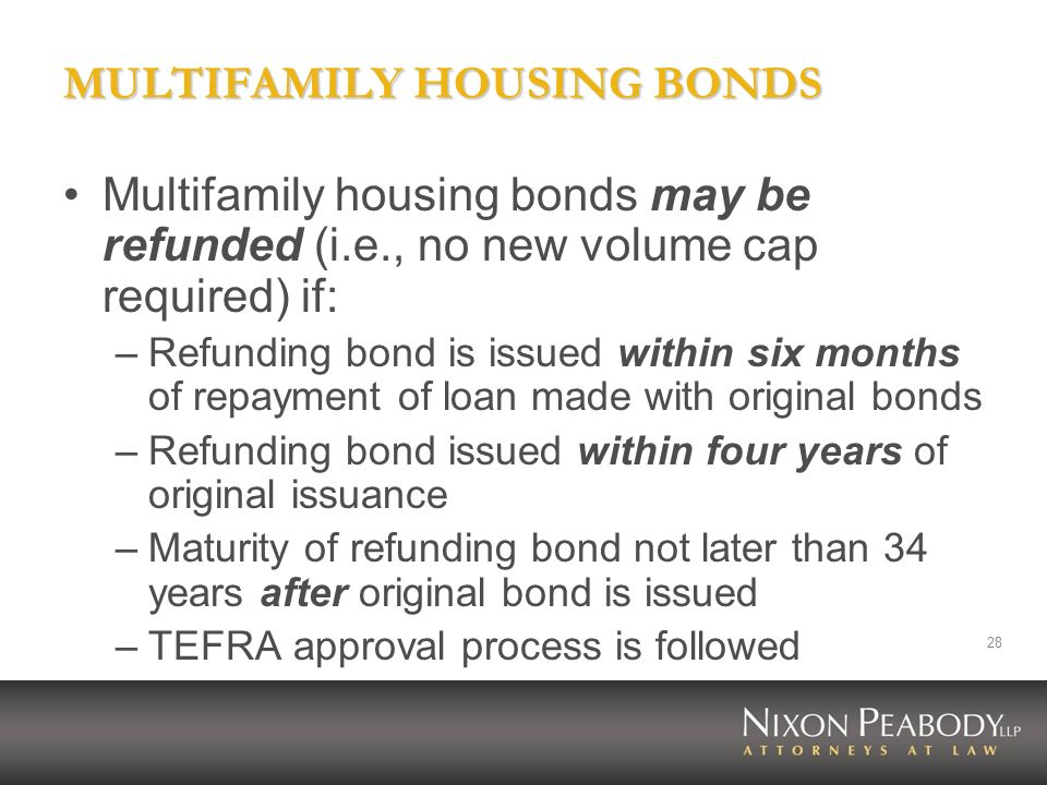 MULTIFAMILY HOUSING BONDS