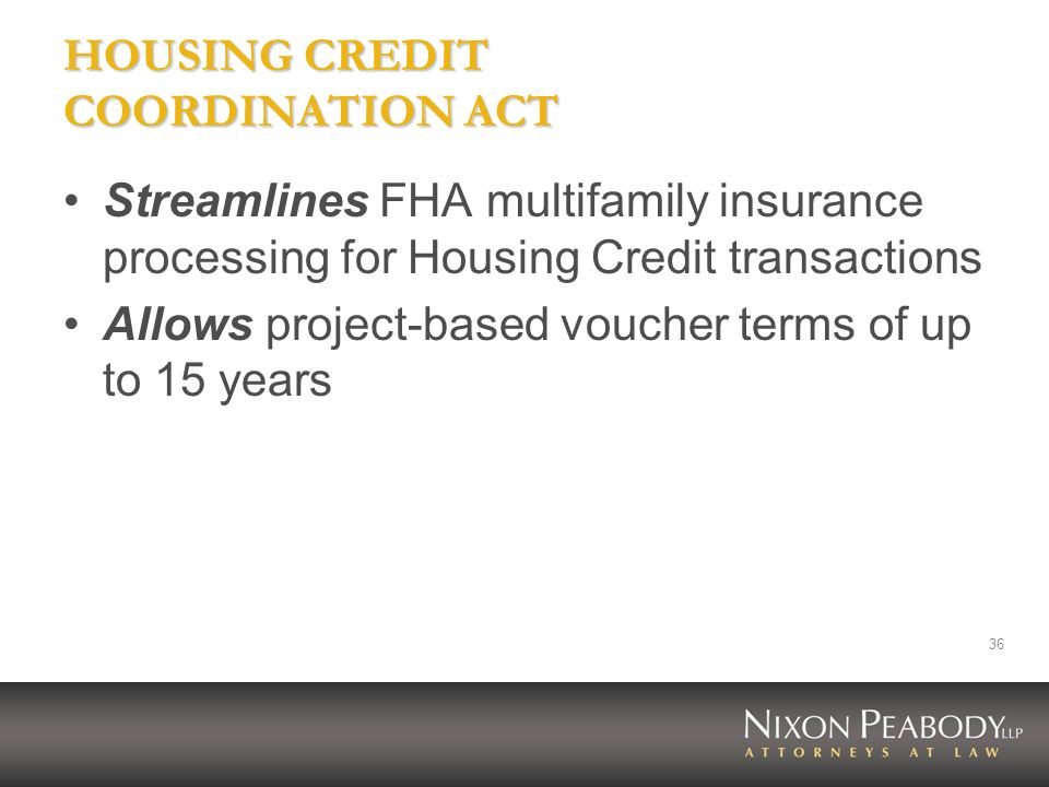 HOUSING CREDIT COORDINATION ACT