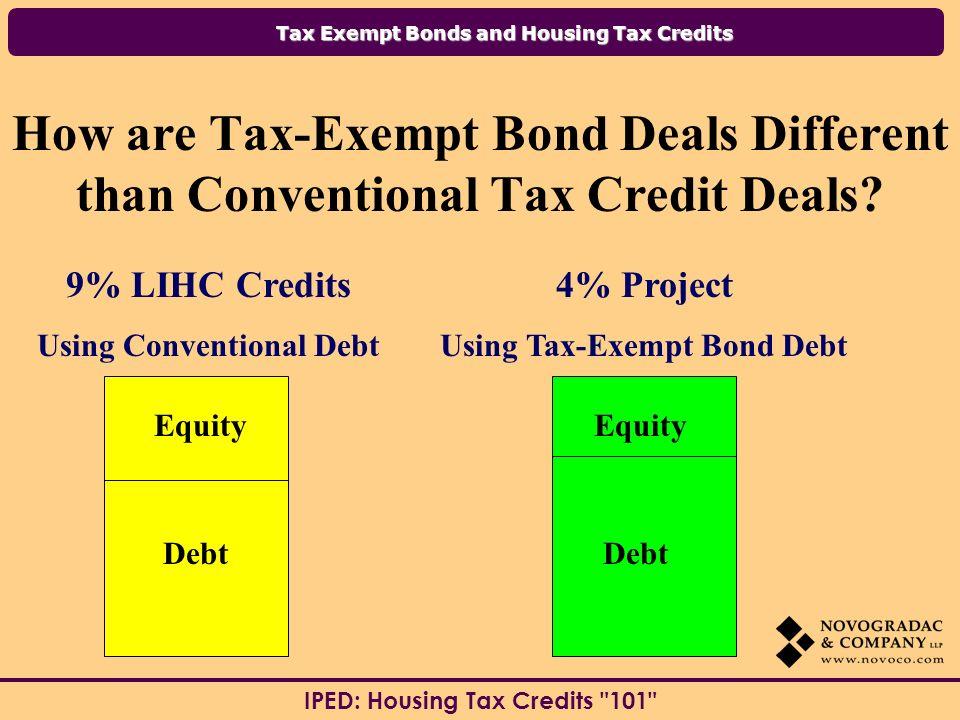 Using Conventional Debt Using Tax-Exempt Bond Debt