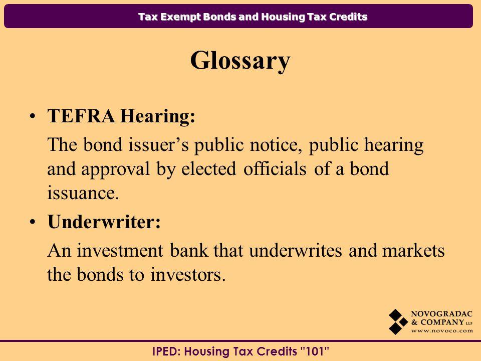 Glossary TEFRA Hearing: