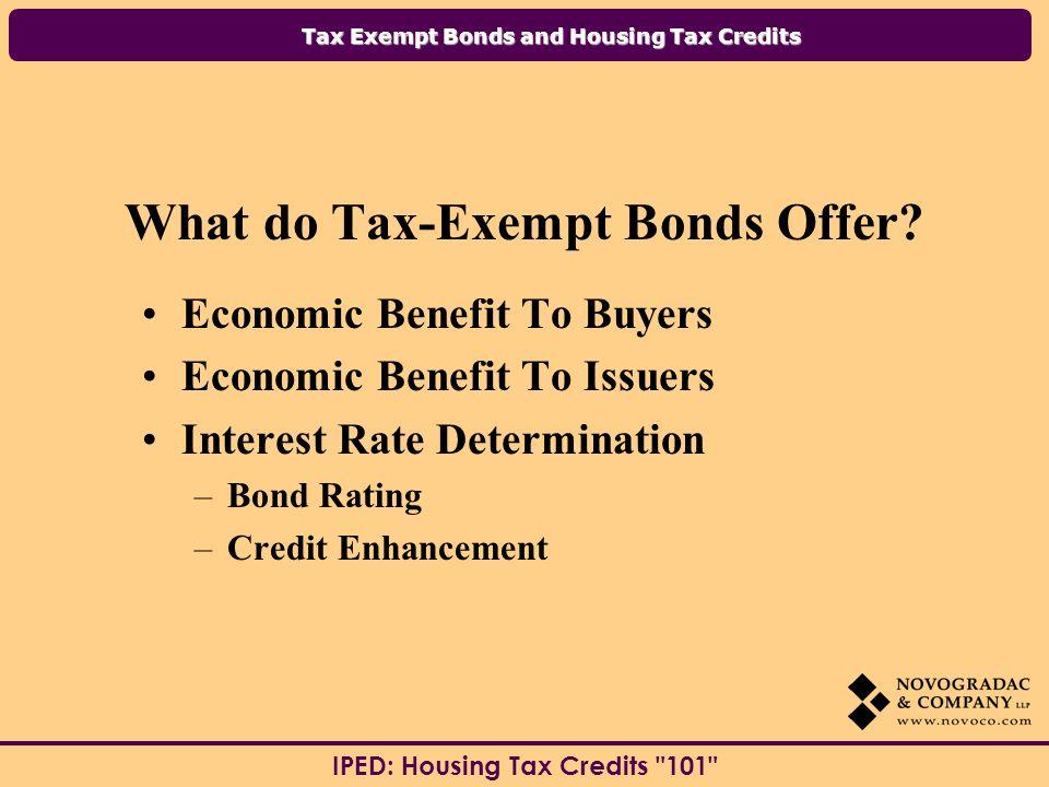 What do Tax-Exempt Bonds Offer