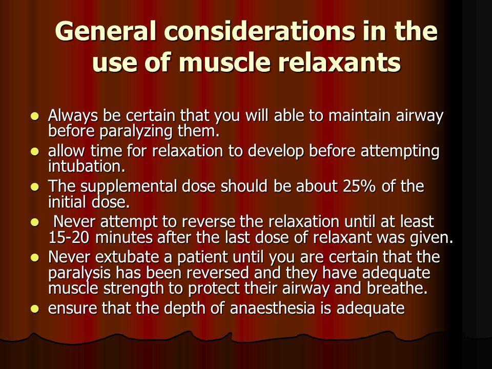 Skeletal muscle relaxants comparison studies