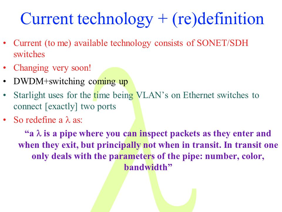 Current technology + (re)definition