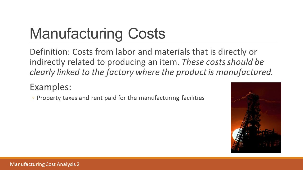 """manufacturing and costs In a typical manufacturing organization, half the costs are raw materials or component parts purchased from suppliers  one response to """"industry cost structures."""