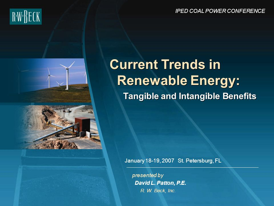 Current Trends in Renewable Energy: