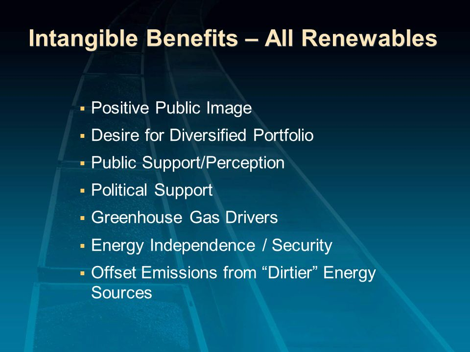 Intangible Benefits – All Renewables
