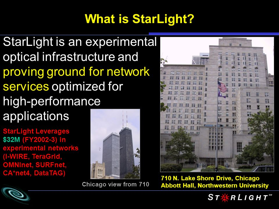 StarLight is an experimental optical infrastructure and