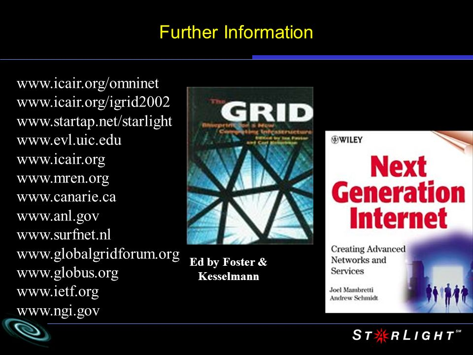 Further Information www.icair.org/omninet www.icair.org/igrid2002