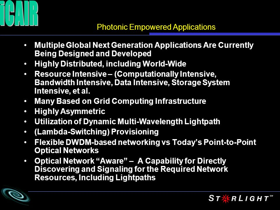 Photonic Empowered Applications