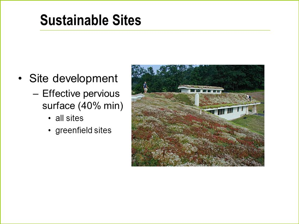 Sustainable Sites Site development