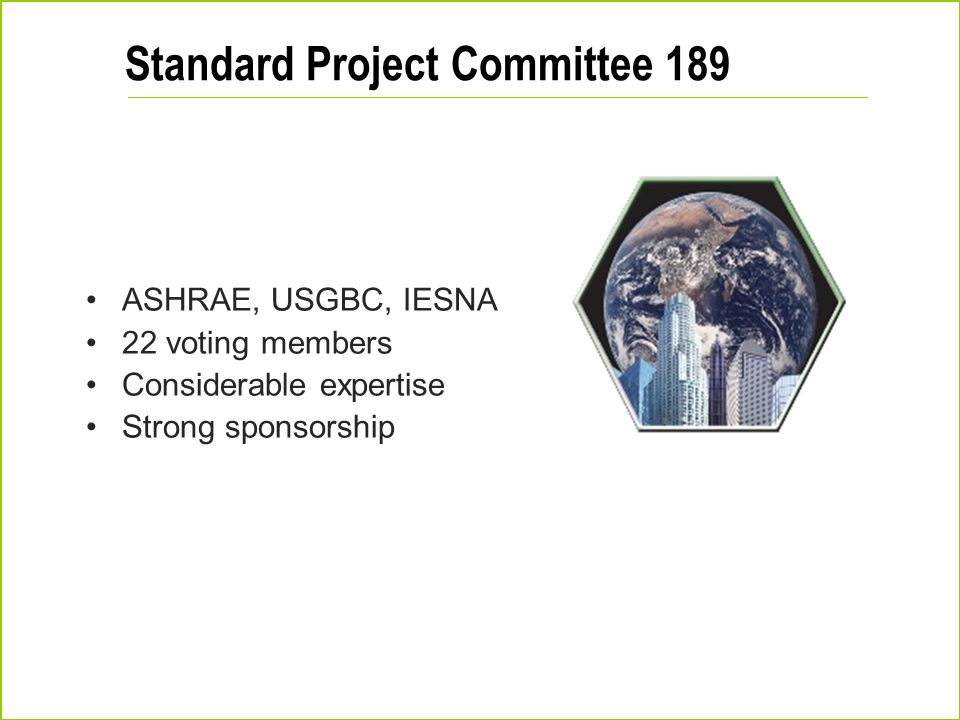 Standard Project Committee 189