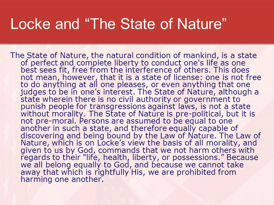 what does locke essay about the state of nature Full-text (pdf) | anyone reading the second of two treatises of government after leviathan must notice how much more civil locke's state of nature.