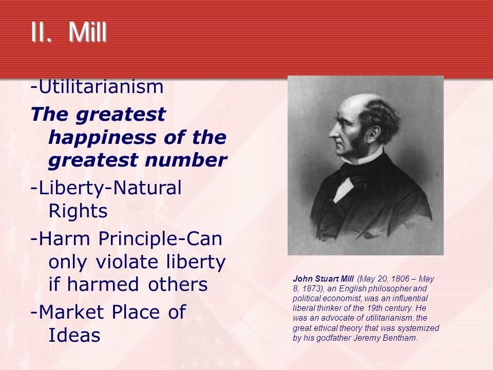 An explication of the greatest happiness principle by john stuart mill