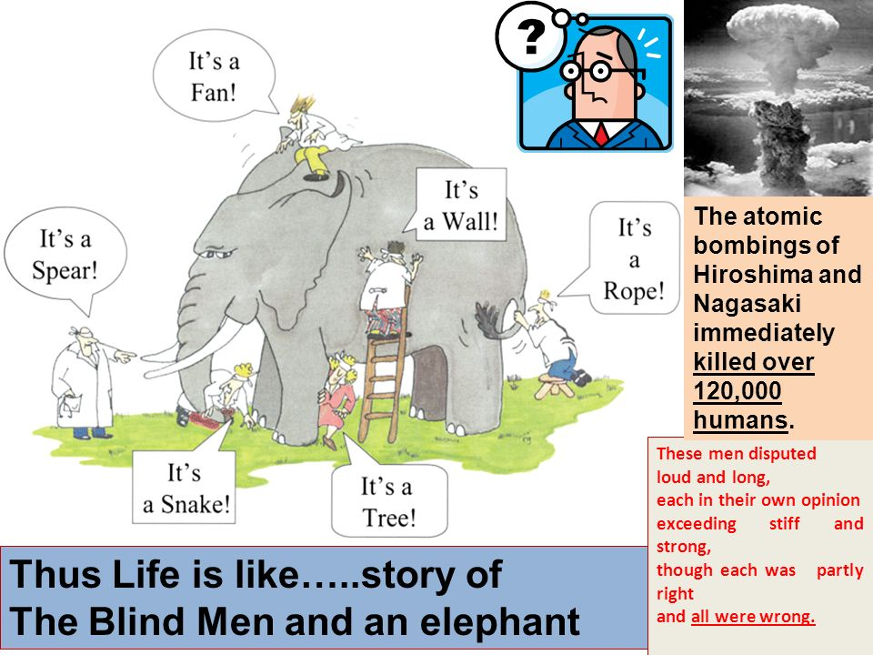 Thus Life is like…..story of The Blind Men and an elephant