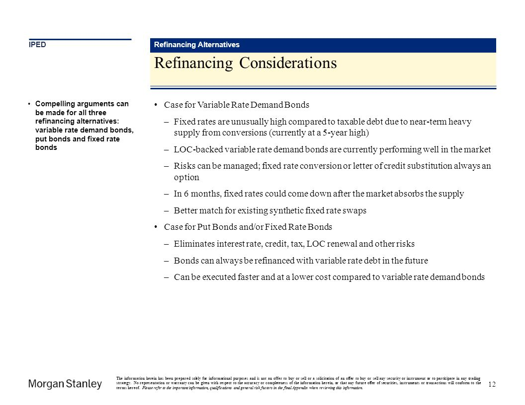 Refinancing Considerations