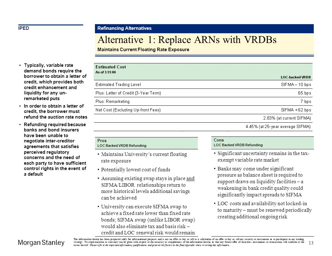 Alternative 1: Replace ARNs with VRDBs
