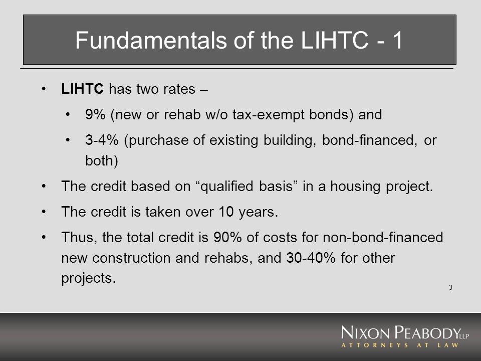 Fundamentals of the LIHTC - 1