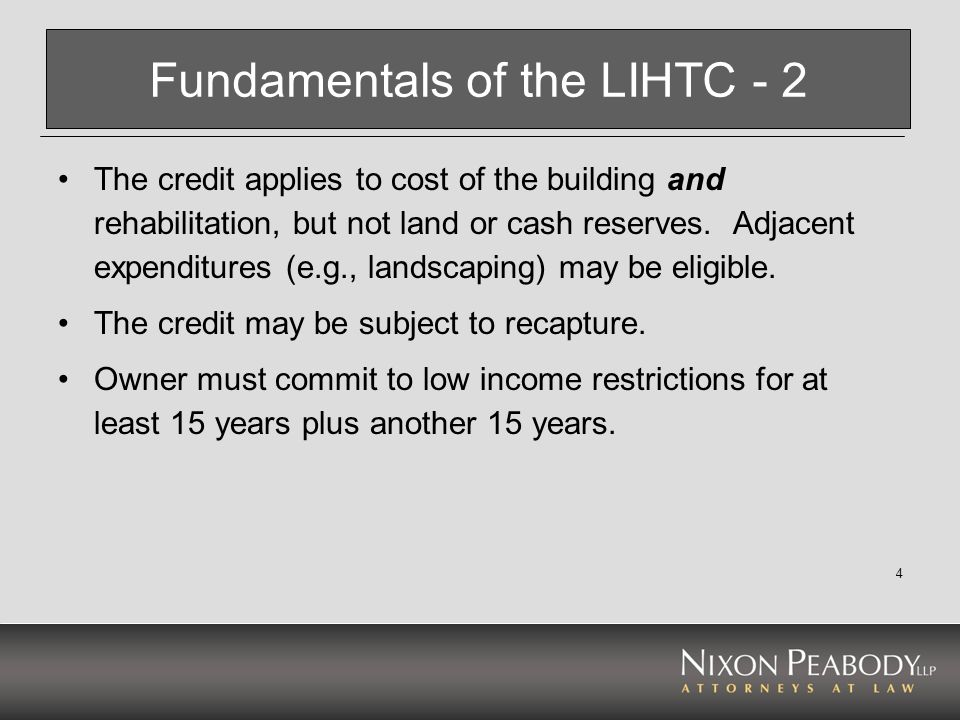 Fundamentals of the LIHTC - 2