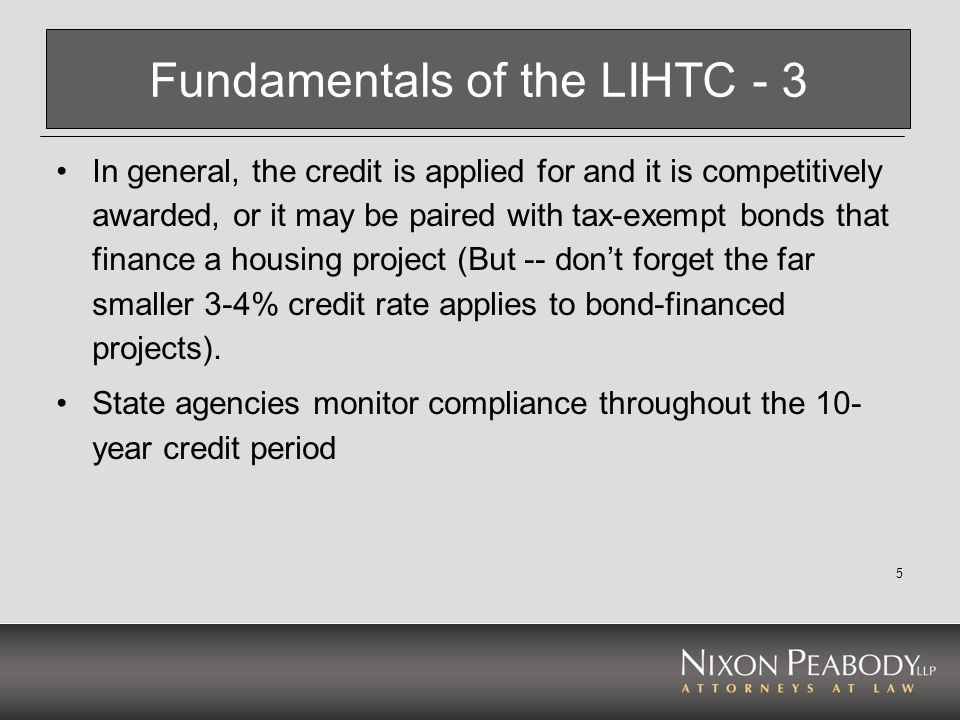 Fundamentals of the LIHTC - 3